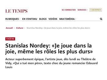 Stanislas Nordey: «Je joue dans la joie, même les rôles les plus durs»