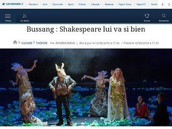 Bussang : Shakespeare lui va si bien