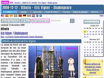 Othello au service de Eric Vignier