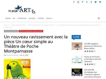 Un nouveau ravissement avec la pièce Un cœur simple au Théâtre de Poche Montparnasse
