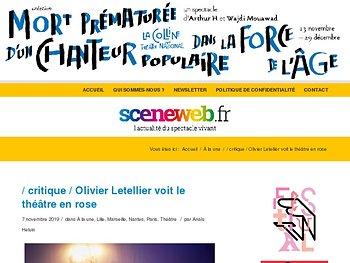 Olivier Letellier voit le théâtre en rose