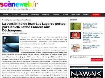 La sensibilité de Jean-Luc Lagarce portée par Daniela Labbé Cabrera