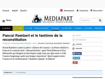 Pascal Rambert et le fantasme de la reconstitution