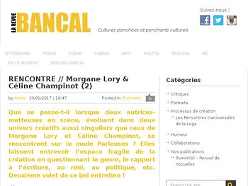 Rencontre // Morgane Lory & Céline Champinot (2)