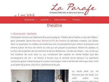 Hommage aux morts et au théâtre