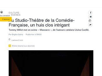 Au Studio-Théâtre de la Comédie-Française, un huis clos intrigant