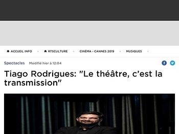 """Tiago Rodrigues : """"le théâtre c'est la transmission"""""""