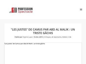 """""""Les Justes"""" de Camus par Abd Al Malik : un triste gâchis"""