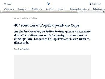 L'opéra punk de Copi