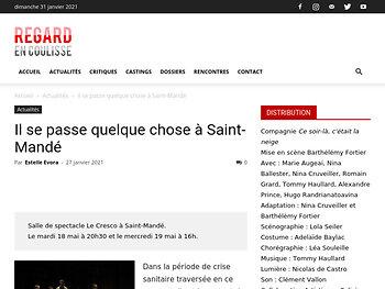 Il se passe quelque chose à Saint-Mandé