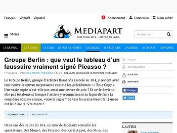 Groupe Berlin : que vaut le tableau d'un faussaire vraiment signé Picasso ?