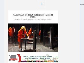 """Maguy Marin danse sur une délicate """"ligne de crête"""""""