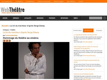 Hommage du théâtre au cinéma