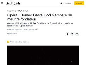 Romeo Castellucci s'empare du meurtre fondateur