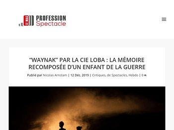 """""""Waynak"""" : la mémoire recomposée d'un enfant de la guerre"""