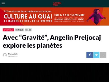 """Avec """"Gravité"""", Angelin Preljocaj explore les planètes"""