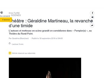 Géraldine Martineau, la revanche d'une timide