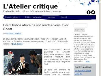 Deux hobos africains ont rendez-vous avec Godot
