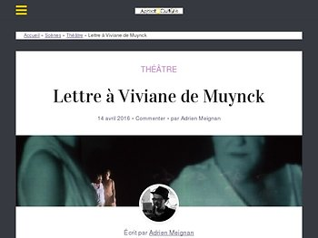 Lettre à Viviane de Muynck