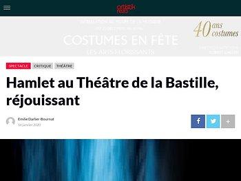 Hamlet au Théâtre de la Bastille, réjouissant