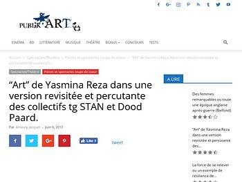 """""""Art"""" de Yasmina Reza dans une version revisitée et percutante"""