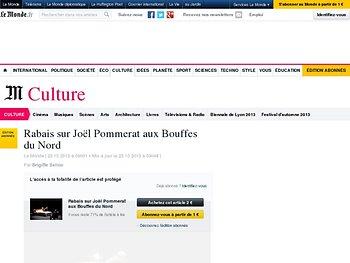 Rabais sur Joël Pommerat