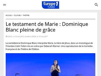 Le testament de Marie : Dominique Blanc pleine de grâce