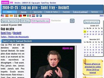 Sami Frey lit Samuel Beckett
