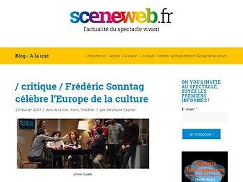 Frédéric Sonntag célèbre l'Europe de la culture