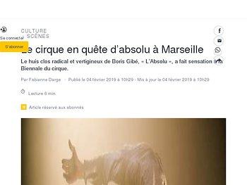 Le cirque en quête d'absolu à Marseille