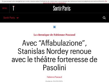 Stanislas Nordey renoue avec le théâtre forteresse de Pasolini