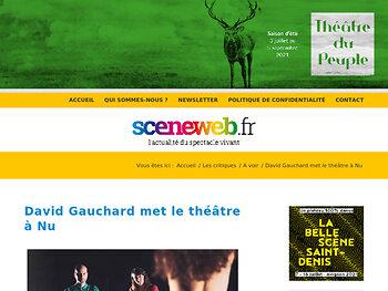 David Gauchard met le théâtre à Nu