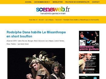 Rodolphe Dana habille Le Misanthrope en short bouffon