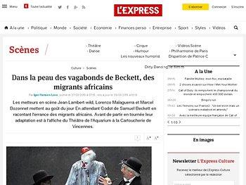 Dans la peau des vagabonds de Beckett, des migrants africains