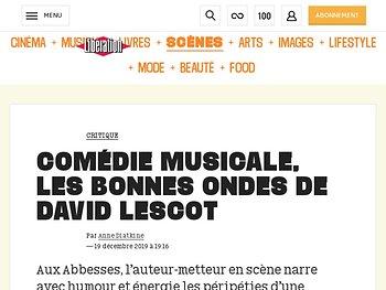 Comédie musicale, les bonnes ondes de David Lescot