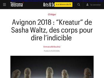 """""""Kreatur"""" de Sasha Waltz, des corps pour dire l'indicible"""