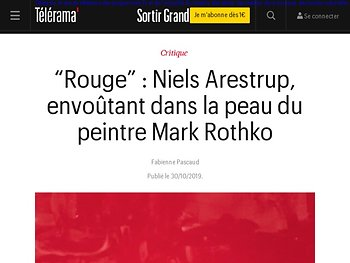 """""""Rouge"""" : Niels Arestrup, envoûtant dans la peau du peintre Mark Rothko"""