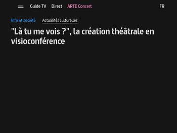 """""""Là tu me vois ?"""", la création théâtrale en visioconférence - ARTE"""
