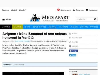 Irène Bonnaud et ses acteurs honorent la Variétà