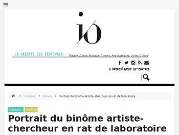 Portrait du binôme artiste-chercheur en rat de laboratoire