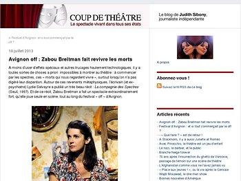 Zabou Breitman fait revivre les morts