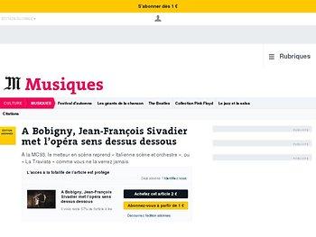A Bobigny, Jean-François Sivadier met l'opéra sens dessus dessous