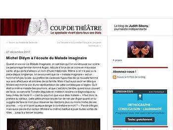 Michel Didym à l'écoute du Malade Imaginaire