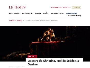 Le sacre de Christina, «roi de Suède», à Genève