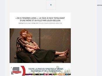 """""""De si tendres liens"""": le face à face totalisant d'une mère et sa fille par Loleh Bellon"""