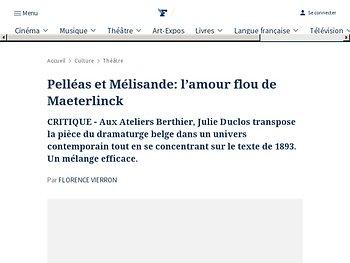 Pelléas et Mélisande: l'amour flou de Maeterlinck