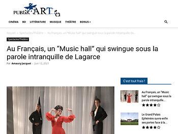 """Au Français, un """"Music hall"""" qui swingue sous la parole intranquille de Lagarce"""