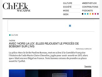"""Avec """"Hors la loi"""", elles rejouent le procès de Bobigny sur l'IVG"""
