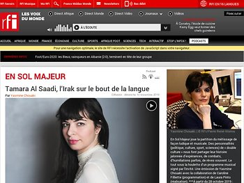 En sol majeur - Tamara Al Saadi, l'Irak sur le bout de la langue