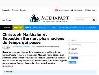 Christoph Marthaler et Sébastien Barrier, pharmaciens du temps qui passe